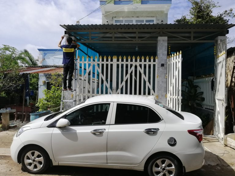 Lắp camera cho công trình nhà phố tại huyện Cần Giờ