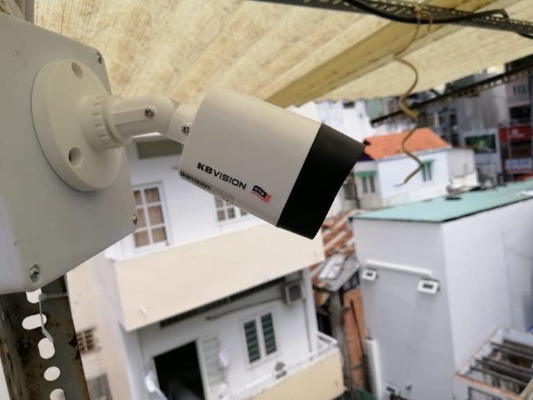 Hoàn thành lắp 4 camera kbvision cho nhà ở quận 1 hcm